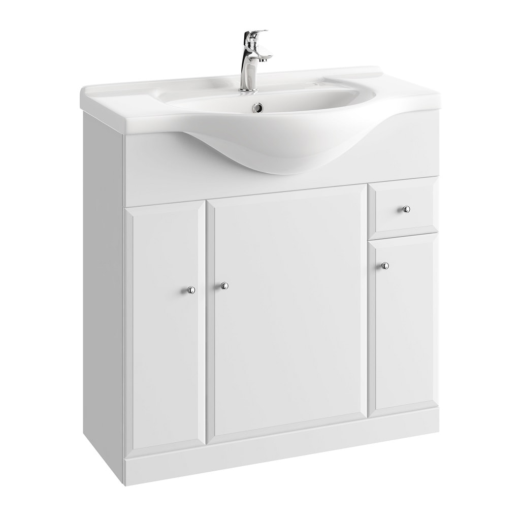 Szafka pod umywalkę z szufladą Defra Armando 82,5cm biała 001-D-08501