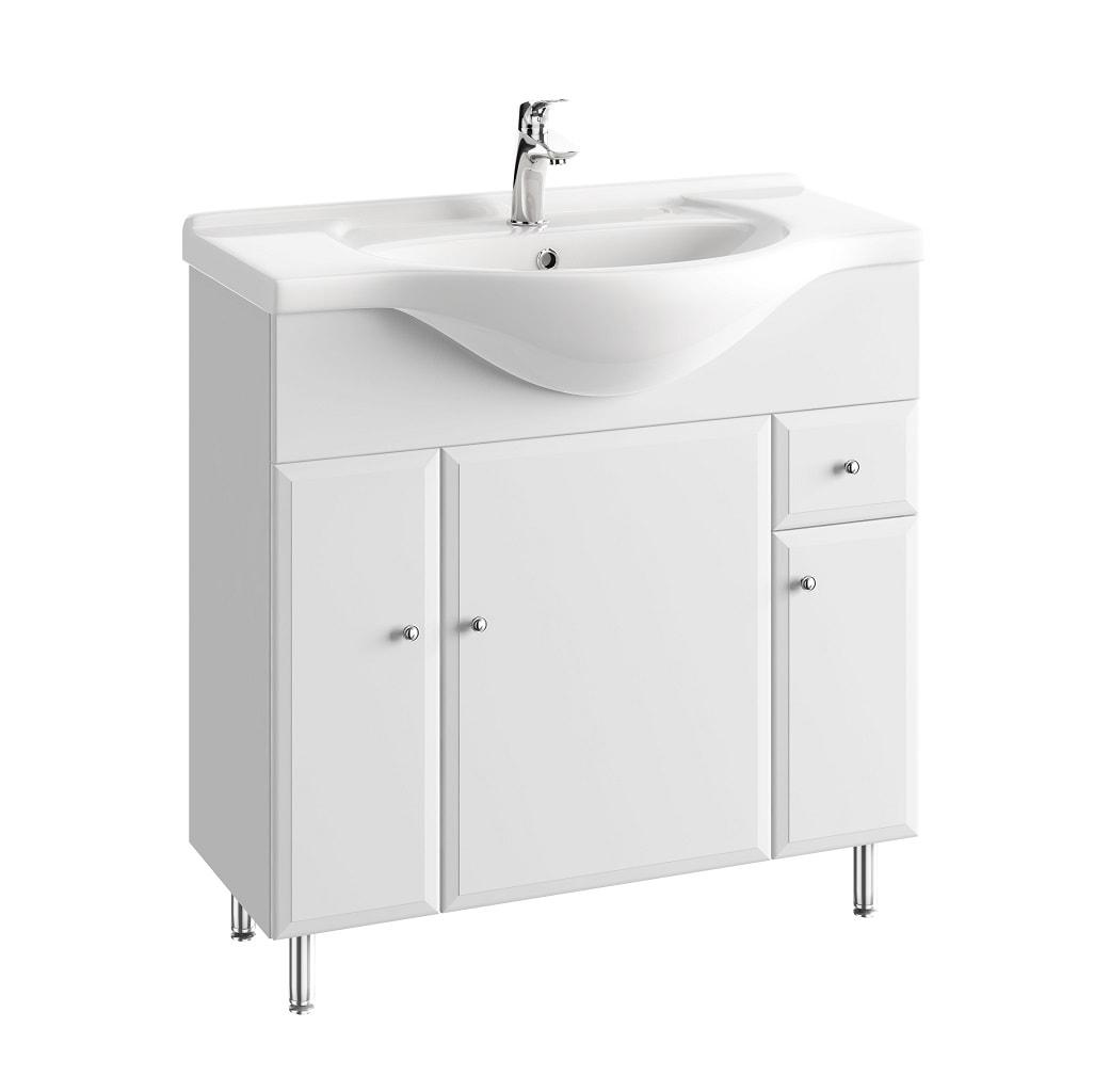 Szafka pod umywalkę z nóżkami z szufladą Defra Armando 82,5cm biała 001-D-08502