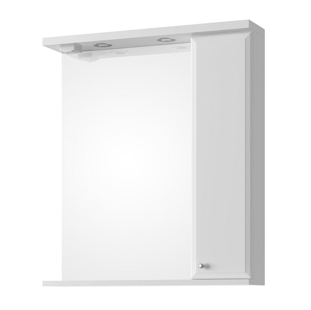 Lustro z oświetleniem z półką Defra Armando 70cm białe prawe 001-L-07003