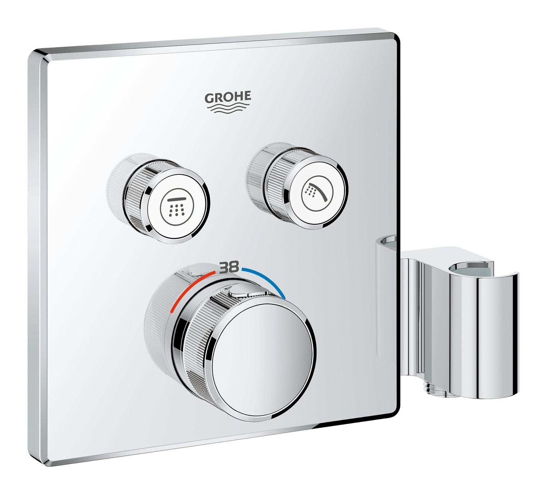 GROHE Grohtherm SmartControl - podtynkowa bateria termostatyczna do obsługi dwóch wyjść wody ze zintegrowanym przyłączem i uchwytem prysznicowym 29125000