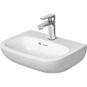 Umywalka ścienna Duravit D-code 45x34cm z przelewem biała 07054500002