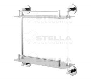 Półka podwójna Stella Classic szkło mat 07.842