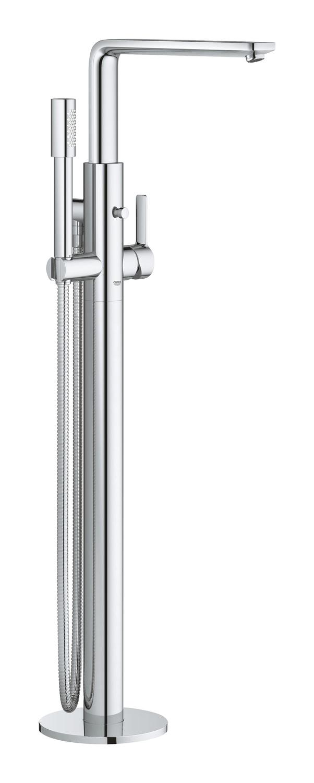GROHE Lineare - jednouchwytowa bateria wannowa do montażu podłogowego z zestawem punktowym Chrom 23792001