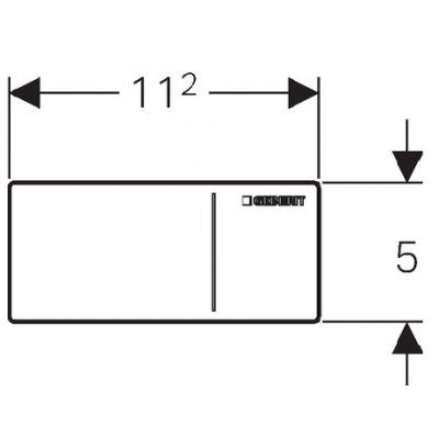 Zdjęcie Przycisk uruchamiający Geberit Omega 70 stal nierdzewna szczotkowana 115.083.FW.1