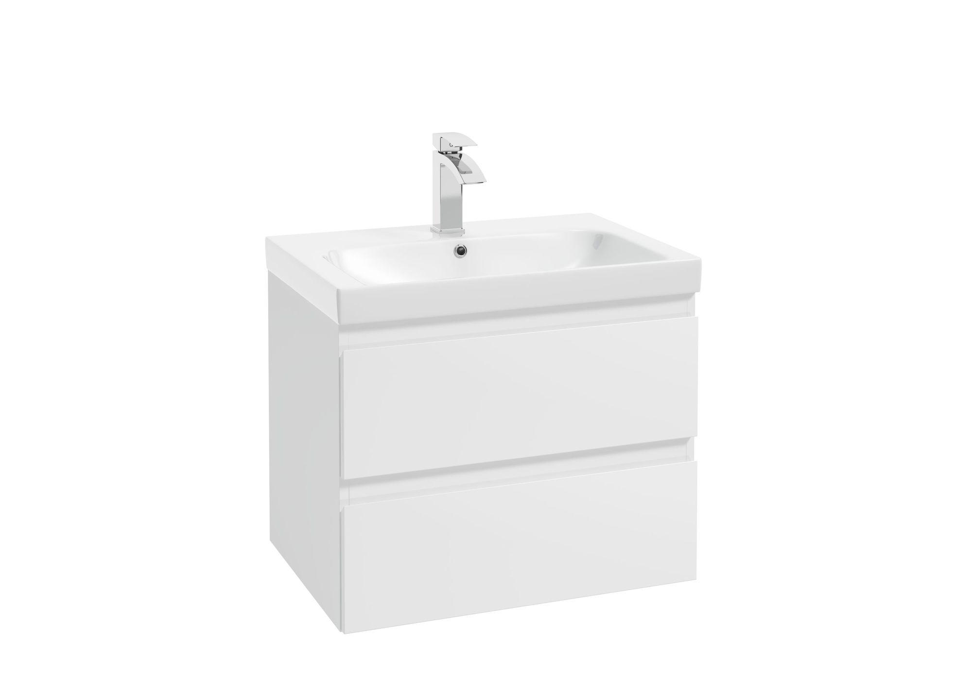 Szafka podumywalkowa Defra Como D65 biały połysk 63,2x51x42,6cm 123-D-06501