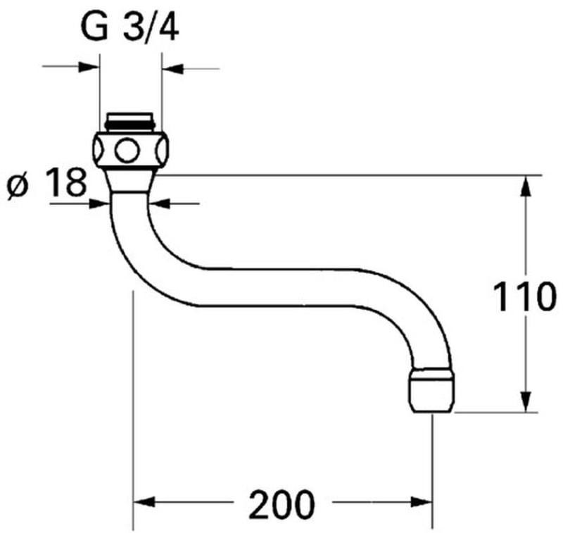GROHE - wylewka S 13084000