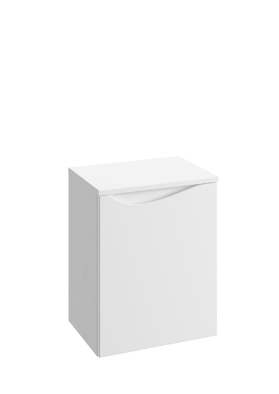 Słupek niski Defra Murcia B40 biały połysk łezka prawy 41,2x51,6x29,8cm 144-B-04001