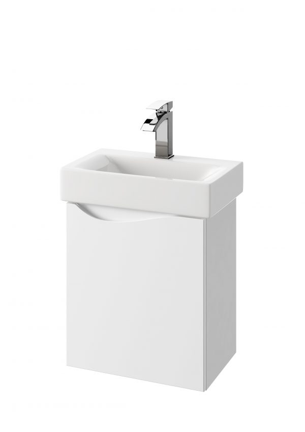 Zdjęcie Szafka podumywalkowa Defra Murcia D50 biały połysk łezka prawa 45×50,5×29,6cm 144-D-05004