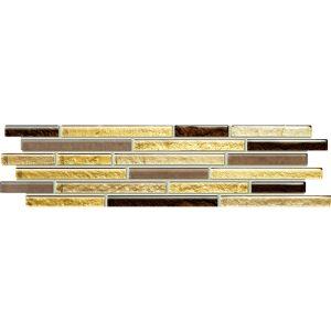 Mozaika ścienna Tubądzin Venatello brown mosaic 9,8x37,2cm