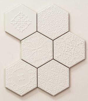 Mozaika ścienna Tubądzin Elementary Hex 22,1x28,9cm