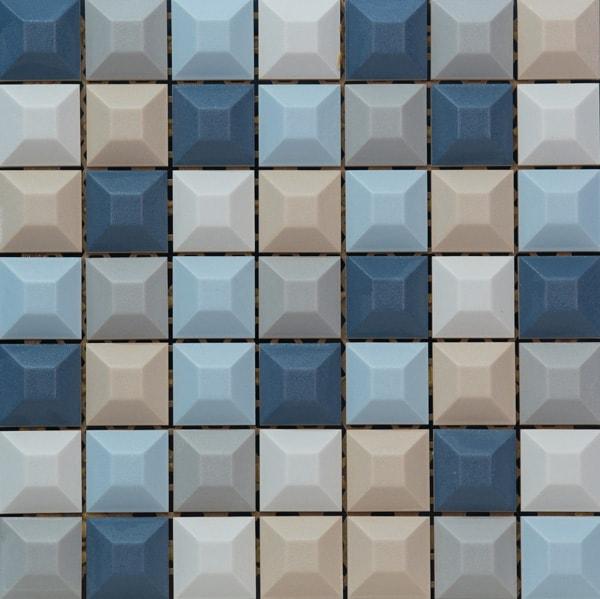 Mozaika ścienna Tubądzin Elementary Blue 31,4x31,4cm