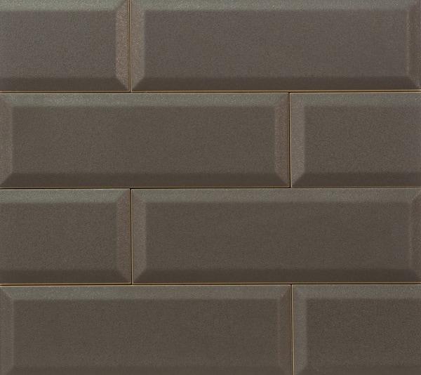 Płytka ścienna Tubądzin Elementary Brown Bar 23,7x7,8cm