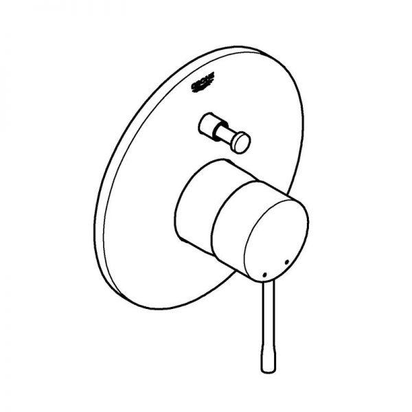 Zdjęcie Bateria wannowa podtynkowa Grohe Essence New Chrom 19285001