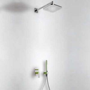 Zestaw natryskowy z baterią podtynkową Tres Loft-Colors zielony 20018002VE