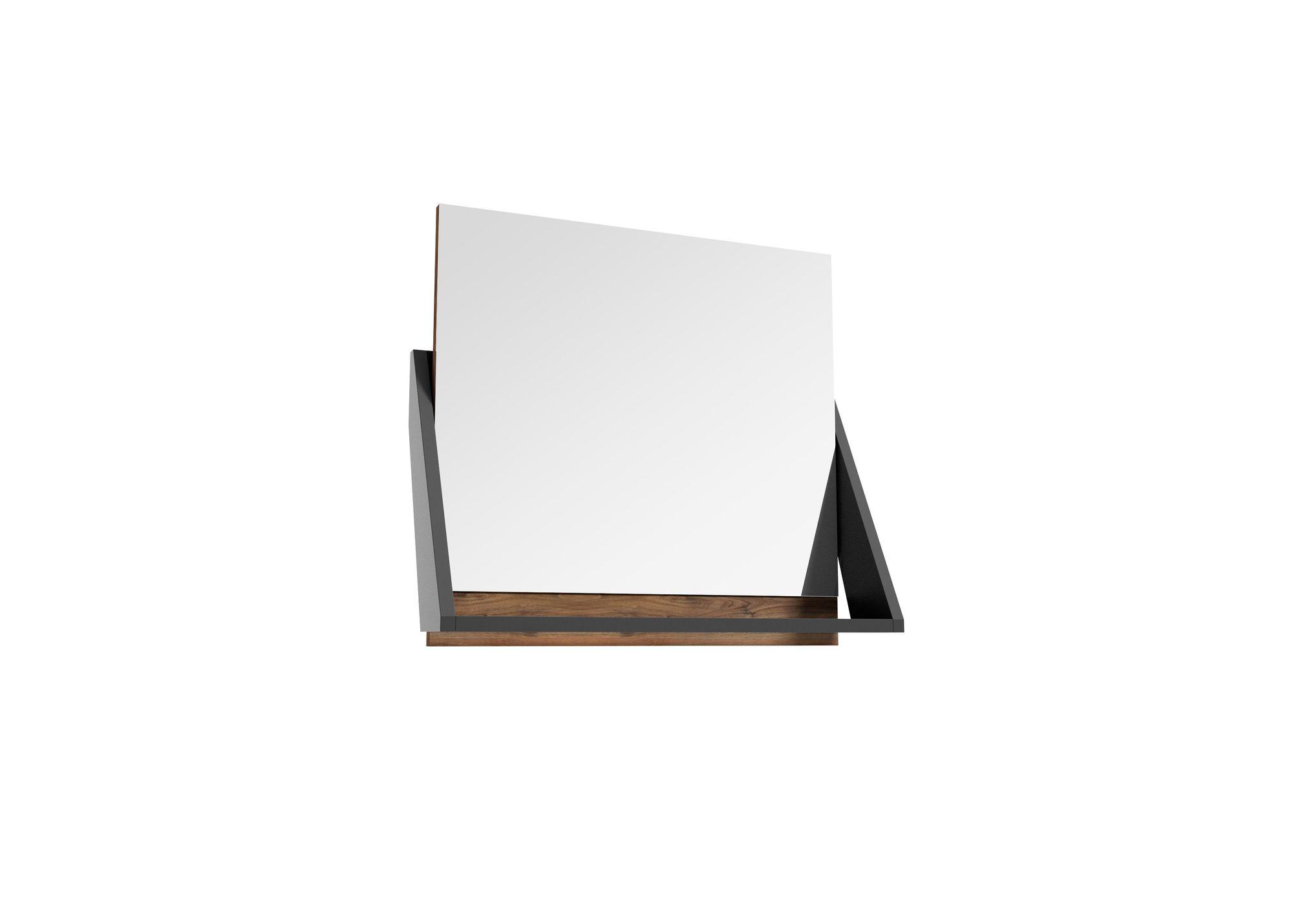 Lustro Defra Op-Arty L60 Orzech Rockford/Czarny Mat 64,2×58,5cm 215-L-06007