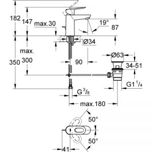 GROHE Bauloop - jednouchwytowa bateria umywalkowa Chrom 23335000
