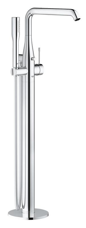 GROHE Essence - jednouchwytowa bateria wannowa do montażu podłogowego z zestawem punktowym Stal 23491DC1