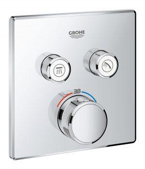 GROHE Grohtherm SmartControl - podtynkowa bateria termostatyczna do obsługi dwóch wyjść wody 29124000