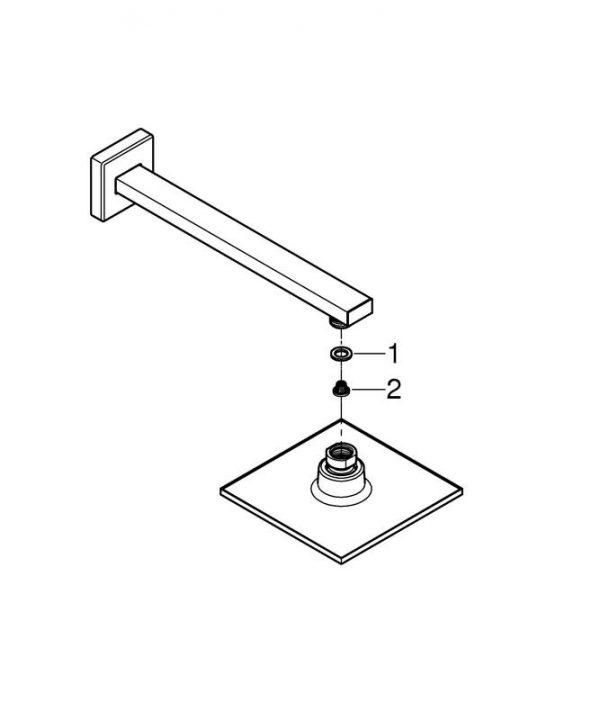 Zdjęcie GROHE Euphoria Cube 150 – zestaw prysznicowy 26073000