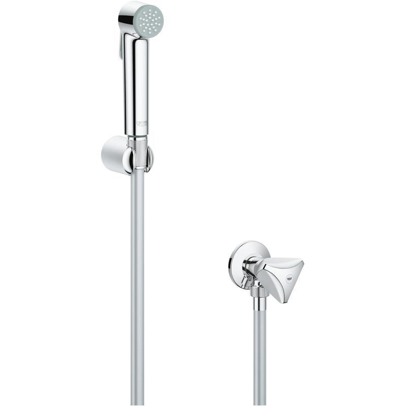 GROHE Tempesta-F Trigger Spray 30 - zestaw punktowy ze słuchawką bidetową i zaworem kątowym chrom 26357000