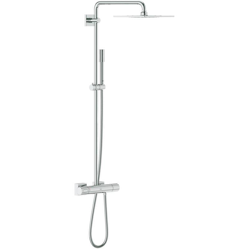 System prysznicowy z termostatem do montażu ściennego Grohe Rainshower F-Series System 254 27469000 .