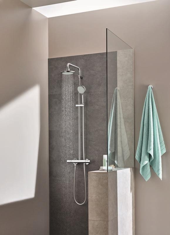 Zestaw Prysznicowy Z Termostatem Do Montażu ściennego Grohe New