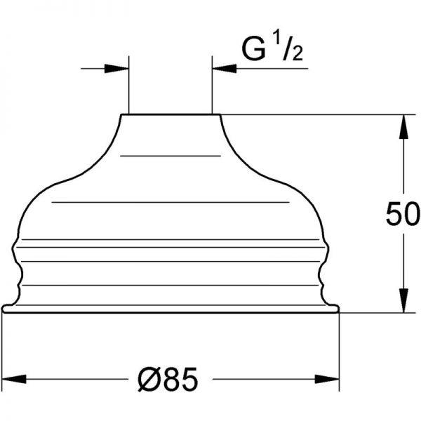 Zdjęcie GROHE Relexa Basic 85 – jednostrumieniowy prysznic górny 28404000