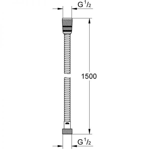 Zdjęcie GROHE Rotaflex – wąż prysznicowy 1500 mm 28417000