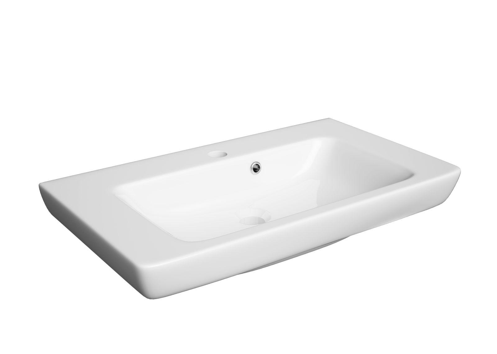 Zdjęcie Szafka DEFRA s Cala D65 biały połysk + umywalka Porto 65 001-D-06514+3032