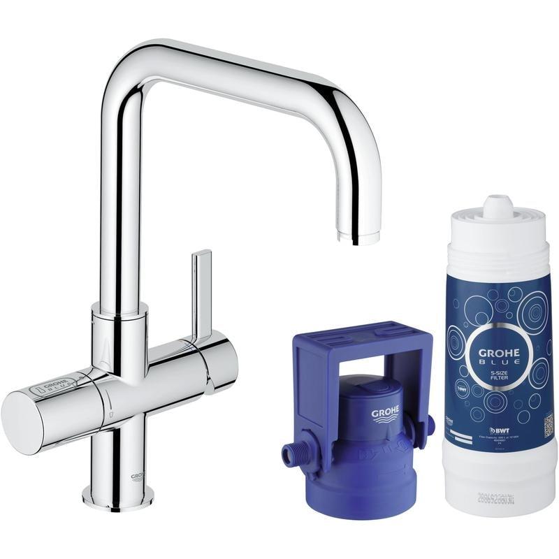 GROHE Blue® Pure - zestaw startowy: bateria z funkcją filtrowania wody, filtr, głowica filtra Chom 31299001