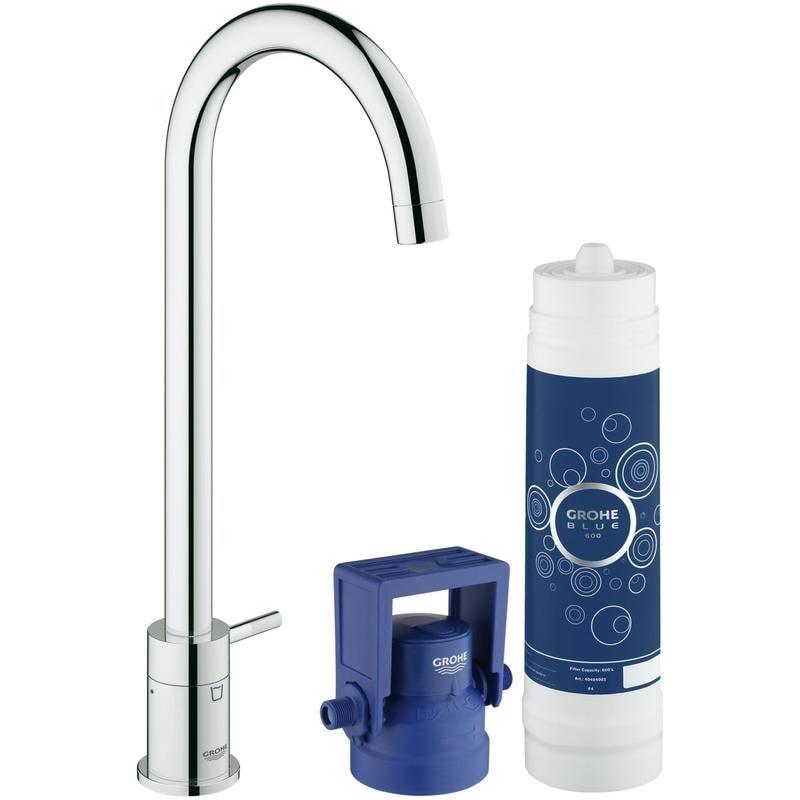 GROHE Blue Mono Pure - Zestaw startowy z zaworem sztorcowym filtrującym wodę Chrom 31301001