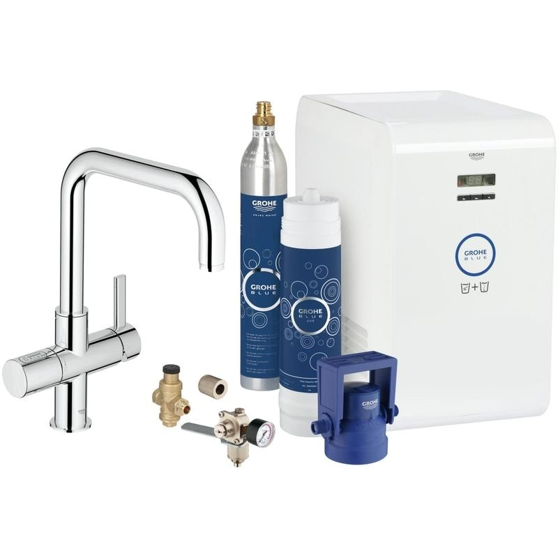 Bateria zlewozmywakowa z filtrem do wody Grohe Blue Chilled and Sparkling Chrom 31324001