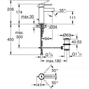 Zdjęcie Bateria umywalkowa Grohe Essence New S 32898001