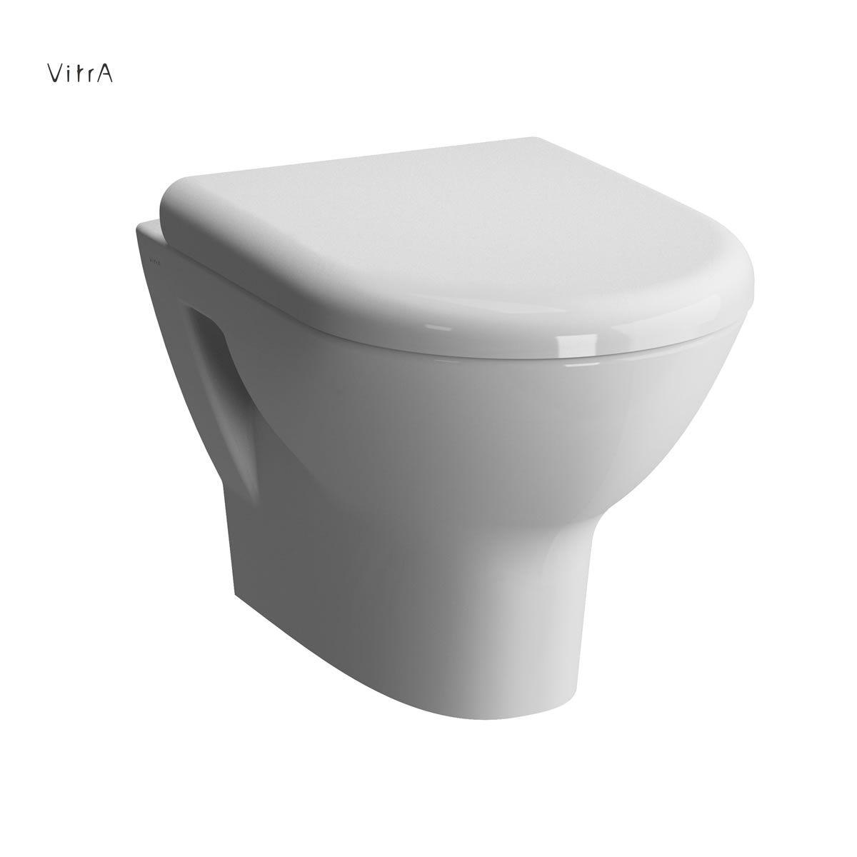 Miska WC wisząca + deska wolnoopadająca Vitra Zentrum 5785B003-0075+94-003-009