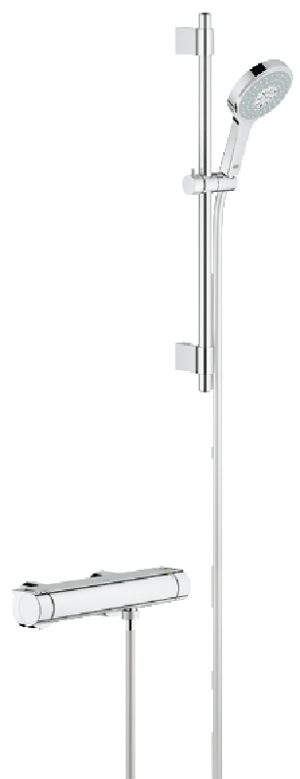 GROHE Grohtherm 2000 - termostatyczna bateria prysznicowa z zestawem prysznicowym 34281001