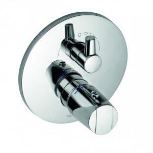 Podtynkowa bateria wannowo-natryskowa z termostatem Kludi Objekta Chrom 358300538