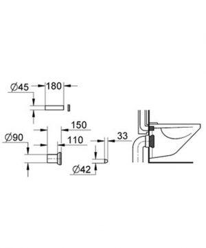 GROHE - zestaw odpływowy do WC 37311K00