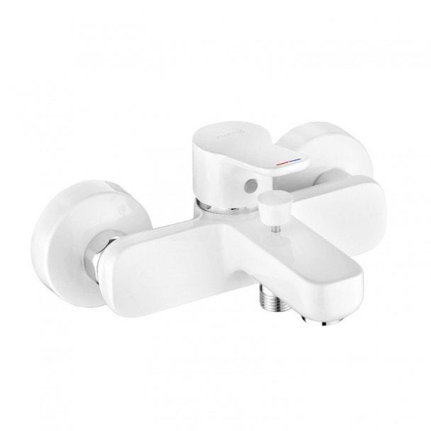Jednouchwytowa bateria wannowo-natryskowa, biały Kludi Pure&Easy  376819165