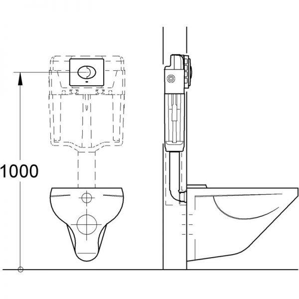 Zdjęcie GROHE Skate Air – przycisk uruchamiający do spłuczki podtynkowej 38506P00