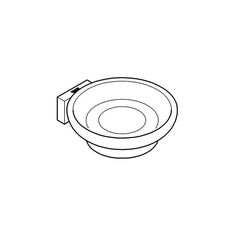 Zdjęcie Uchwyt do szklanki lub mydelniczki Grohe Essentials Cube chrom 40508001
