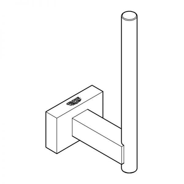 Zdjęcie Uchwyt na zapasowy papier toaletowy Grohe Essentials Cube 40623001