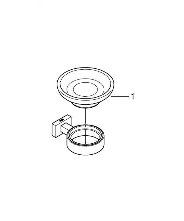 Zdjęcie Mydelniczka z uchwytem Grohe Essentials Cube chrom 40754001