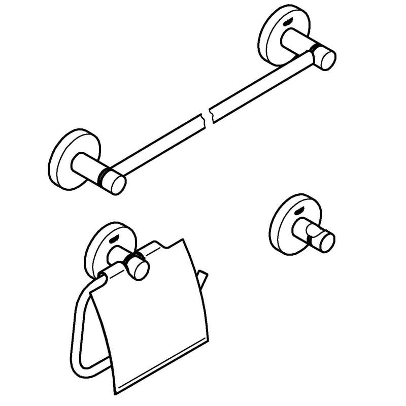 Zdjęcie GROHE Essentials 3 in 1 – zestaw akcesoriów łazienkowych 40775001