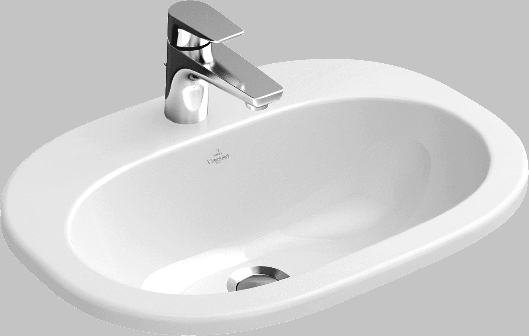 Umywalka nablatowa owalna Villeroy&Boch O.Novo 40,5x56cm 416157R1