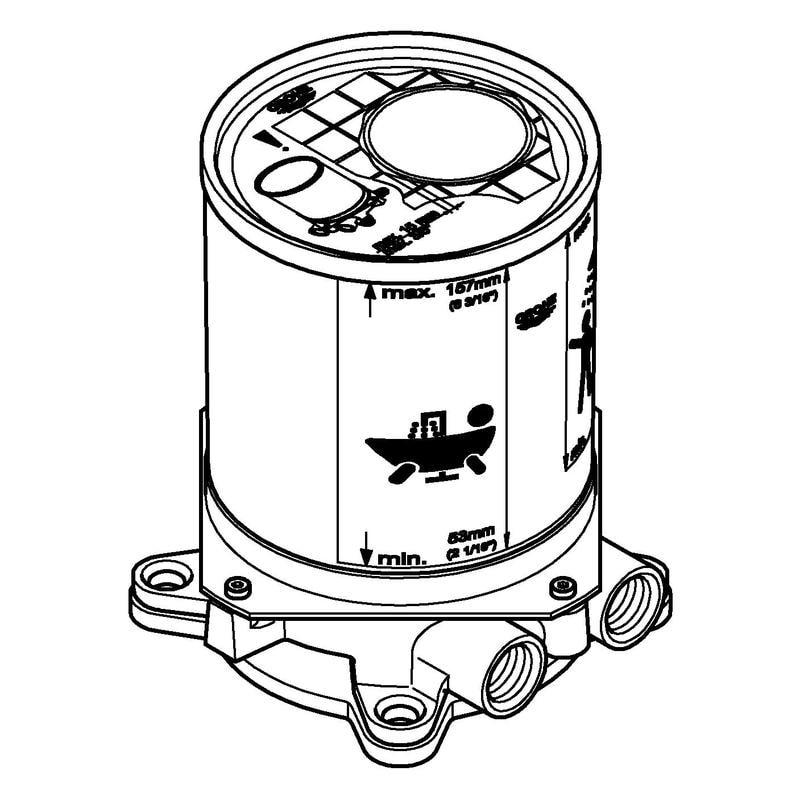 Zdjęcie Element montażowy baterii podłogowej Grohe 45984001