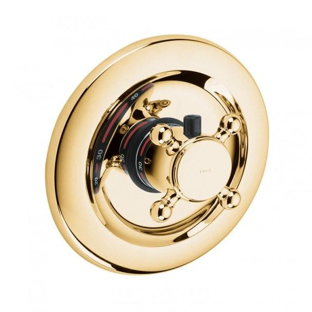 Podtynkowa bateria z termostatem Kludi Adlon Złoty 517194520