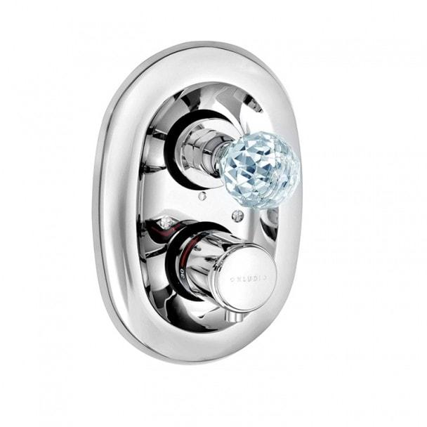 Podtynkowa bateria z termostatem Kludi Adlon z kryształowym uchwytem Chrom 5172005G5