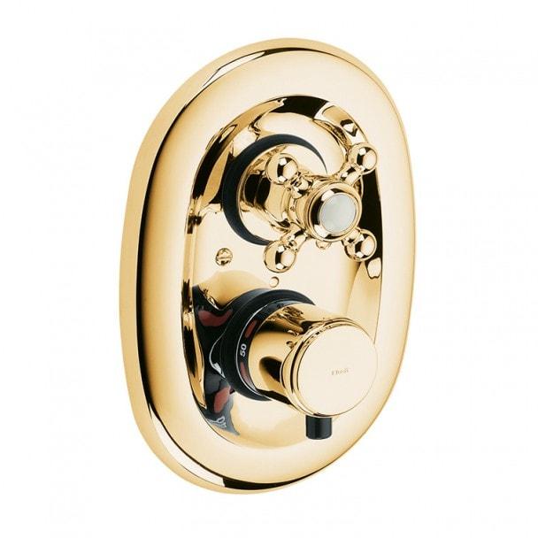 Podtynkowa bateria z termostatem Kludi Adlon Złoty 517204520