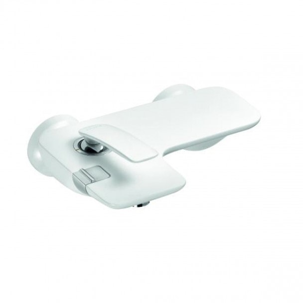 Jednouchwytowa bateria wannowo-natryskowa Kludi Balance bez zestawu odpływowego, biały/chrom 524459175