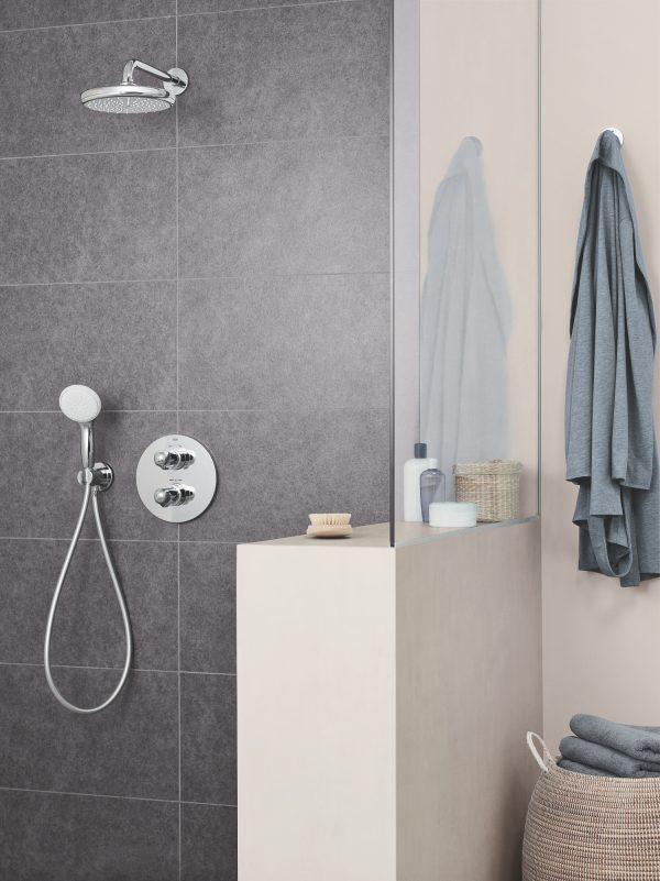 Zdjęcie GROHE Euphoria 210 – deszczownica jednostrumieniowa z ramieniem prysznicowym 26412000
